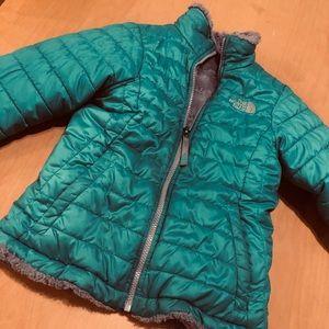 Girls NorthFace reversible coat Size Small